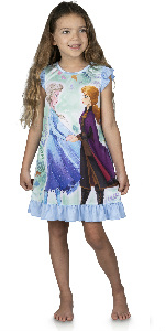 girls frozen pajama nightgown dress sleep shirt dorm princess sleepwear loungewear doll