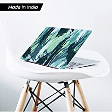Water color wash green laptop skin sticker for 14 inch 15.6