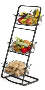 3 tier market basket stand