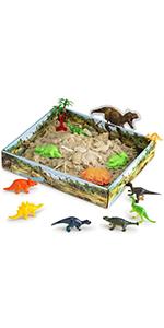 CoolSand Play Sand Dinosaur Discovery 3D Sandbox Kit