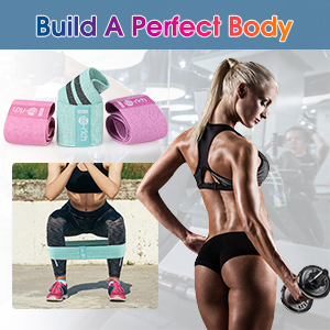 fit women squat workout gym with resistance bands
