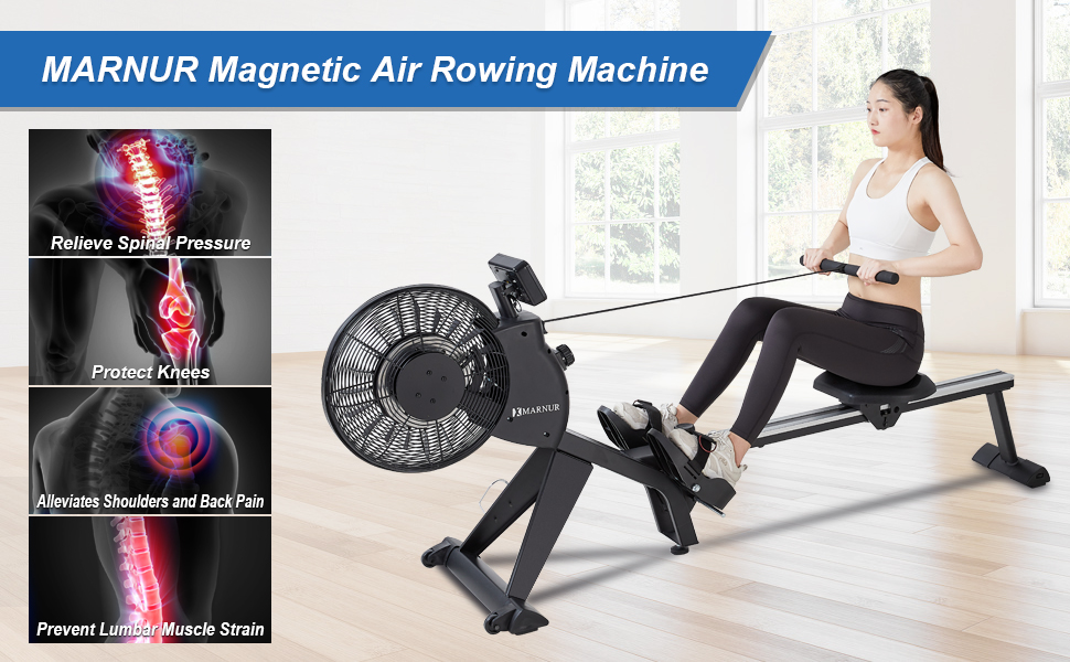 magnetic rowing machine air
