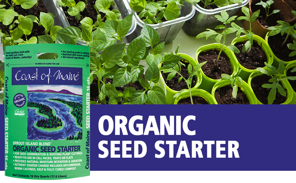 Organic seed starter, seed germination soil, plant cuttings rooting soil, seed soil
