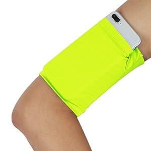 Cellphone running arm band - Pure Fluorescent Yellow