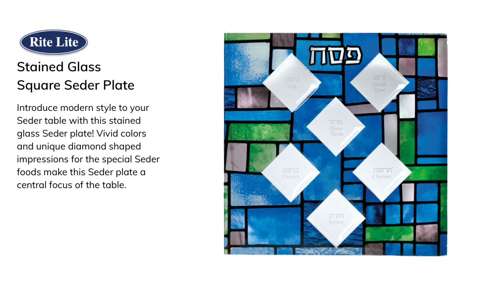 Stained glass seder plate