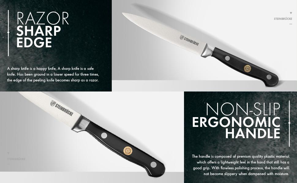 Razor Sharp Edge and Non-slip Ergonomic Handle