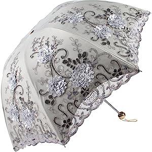 grey lace parasol umbrella