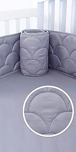 mini crib bumper pads