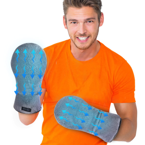 Microwavable Heated Mittens