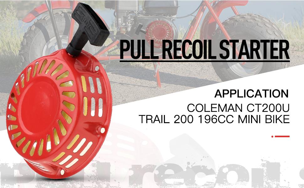 Pull Recoil Starter For Coleman CT200 CT200U 196cc//6.5HP Gas Mini Bike