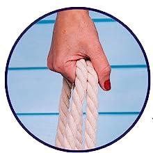 Rope handles beach bag
