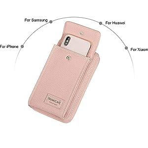 aimeekestenberg leather phone crossbody w/ rfid & screen access,