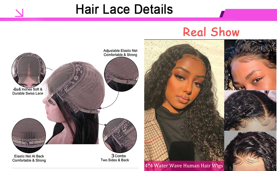 water wave lace closure wig wet and wavy lace closure wig