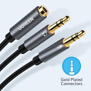 مقسم ميكروفون محول الصوت 3.5 أنثى إلى اثنين 3.5 محول صوت ميكروفون
