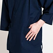 六花の上質な肌触りのいいメンズ作務衣