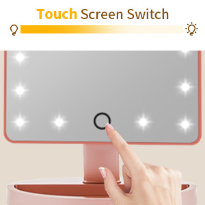 Dimmable Touch Sensor Cosmetic Mirror