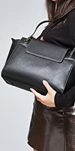 Heshe Women's Leather Shoulder Handbags Hobo Bag Designer Satchel Ladies Purses