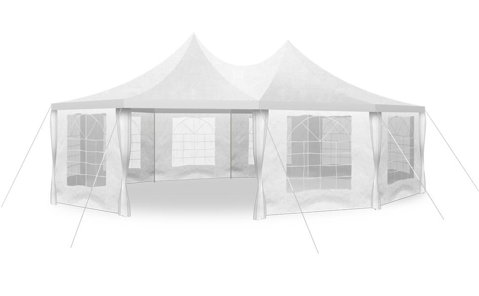 hochwertiges Festzelt 8 9 X 6 5 M Partyzelt Pavillon günstig