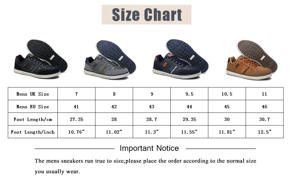 sneakers uomo size