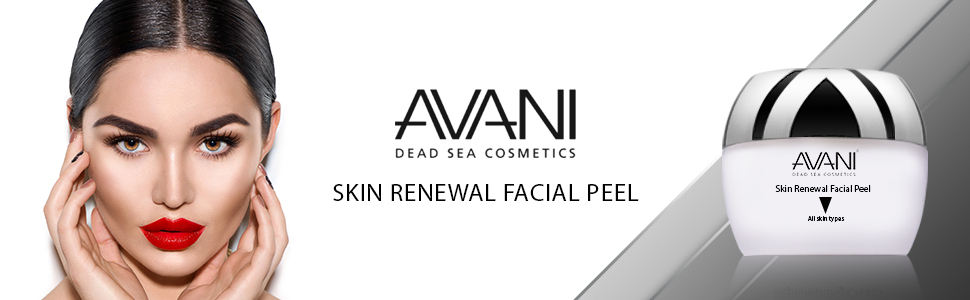 AVANI, facial peel, dead sea minerals, facial cleanser