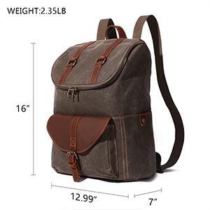Backpack Classic Vintage Bag Canvas Computer Female Student Leisure Outdoor Mini Leather Vtg Trail Maker Student Canvas Shoulder Bags
