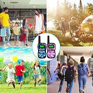 GlobalCrown walkie talkie per bambini Caratteristiche: