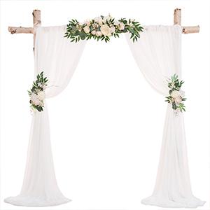 white wedding arch flower