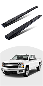 YITAMOTOR Running Boards 6 inches OE Style Aluminum Side Steps Nerf Bars