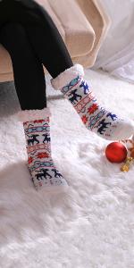 Women's Fuzzy Slipper Socks