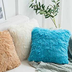 faux fur pillow covers brown pillows fluffy soft shaggy