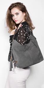 Taschen Damen Handtaschen Leder Henkeltasche Taschen Hobo Umhängetasche Wildleder