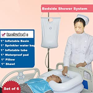 Overhead Shower with Water Bag
