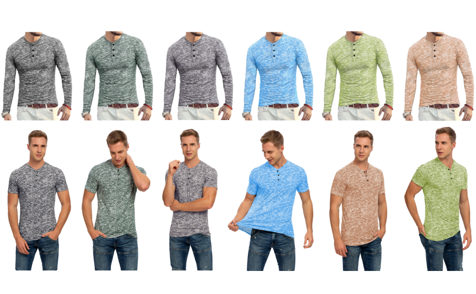 YTD henley shirts for men