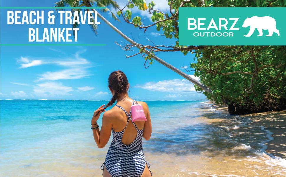 BEARZ Outdoor Pink Beach Blanket
