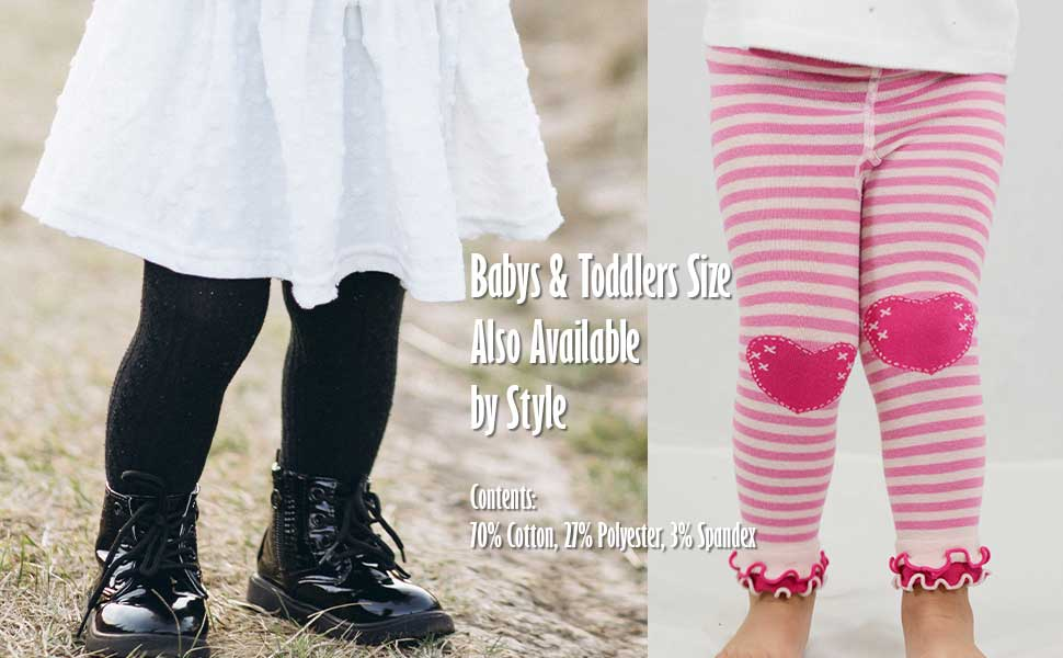 Babys and Toddlers Tights, Footless Tights