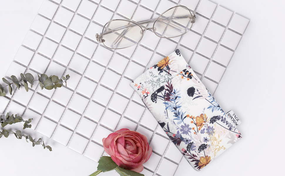 double eyeglasses pouch