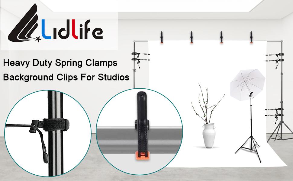 弹簧夹背Heavy Duty Spring Clamps Background Clips For Studios景夹
