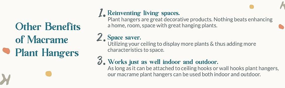 Benefits of hanging planters indoor outdoor