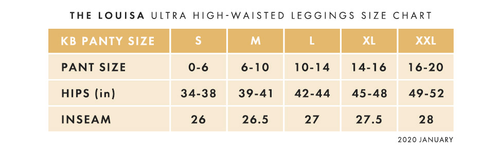 Louisa Size Chart