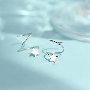 star wrap earrings