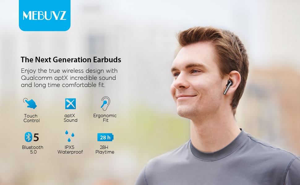MEBUYZ Bluetooth Earbuds A20