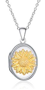 Sunflower Photo Locket