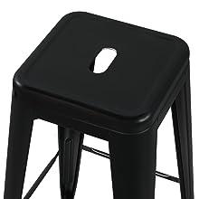 assise en metal avec un trou