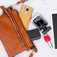 This external battery bank for handbag, travel bag, purse.