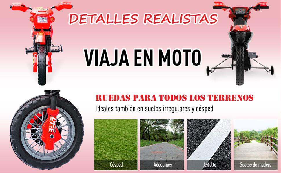 Moto Electrica Infantil Bateria 6V Recargable Niños 5 Años ...