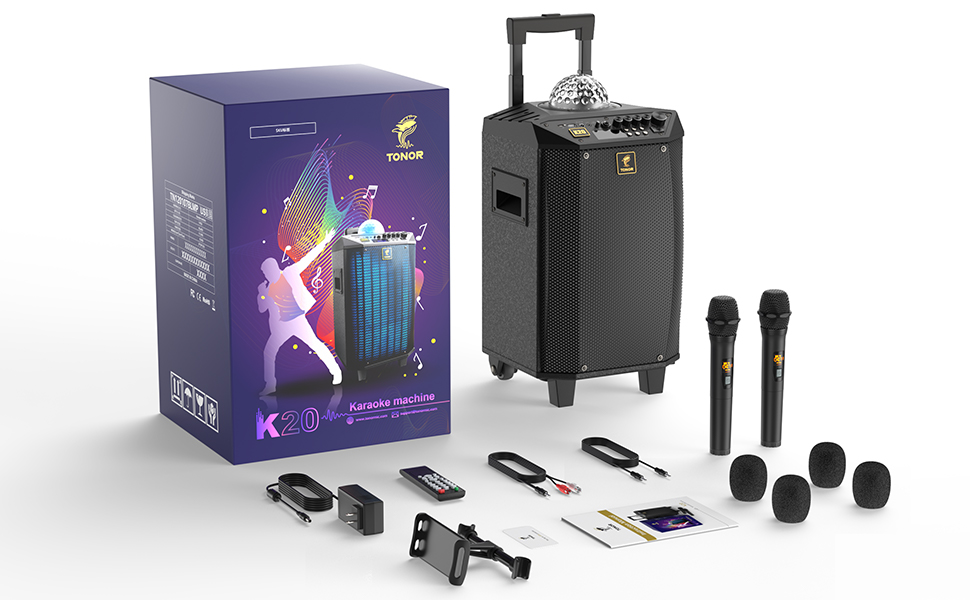 pa system with 2 wireless microphone
