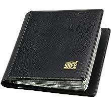 SAFE 227 Taschenm/ünzalbum M/ünzen Sammelalbum Taschen M/ünzalbum Mini mit 10 Seiten f/ür 40 M/ünzen bis 40 mm