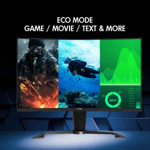 El menú de visualización en pantalla (OSD) le brinda una ventaja competitiva en los juegos.