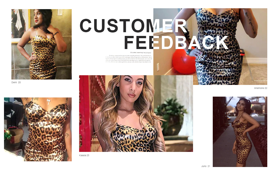 satin bodycon leopard print dress