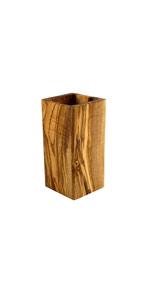 Tramanto Olive Wood Utensil Holder